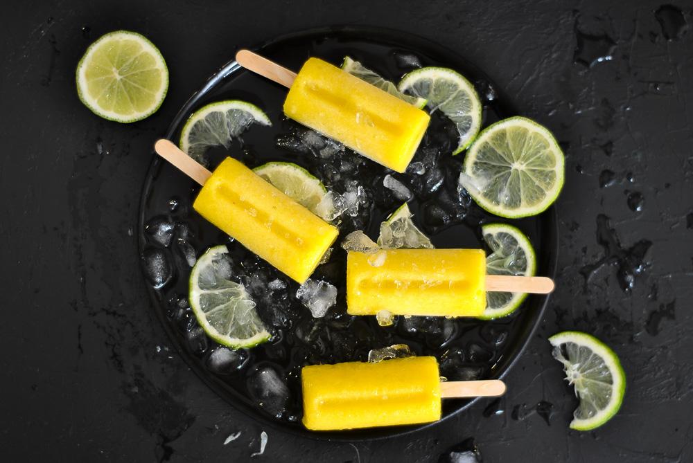 Mango-lime pops